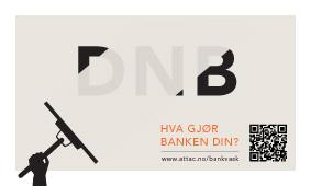 Eksempel på klistremerke: DNB