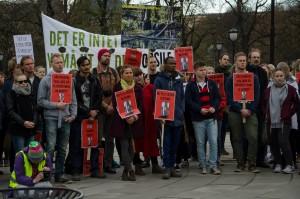Nei til uetisk oljefond-demonstrasjon 17 april 2015 - Foto fra Facebook-siden til arrangementet